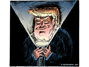 Trump scary with flashlight